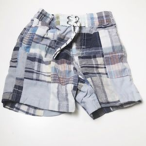 3/$12 GAP Surf Shop plaid swim shorts